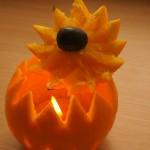 Romantczny lampion z pomarańczy