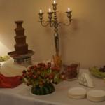 Fontanna czekoladowa i owocowy jeżyk