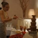Fontanna z czekolady na wesele