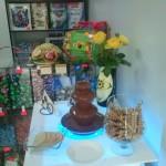 Dekoracje carvingowe z fontanną czekoladową