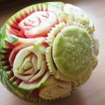 Letnia Impresja - rzeźba carvingowa w arbuzie