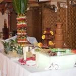 Palmy owocowe, carving, fontanny czekoladowe