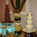 fontanna z białą czekoladą