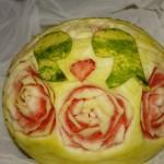 Ślubny motyw z arbuza - carving