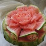 dekoracje w owocach - carving