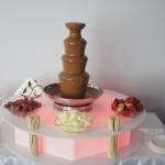Fontanna czekoladowa w firmie Goldbach w Warszawie
