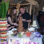 Fontanna czekoladowa i serowa oraz palma owocowa Zajazd Europejski Szadów Księży