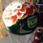 Ślubny carving w arbuzie
