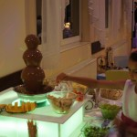 Atrakcja dla dzieci na wesele - fontanna czekoladowa