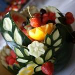 Dekoracja z arbuza - koszyk