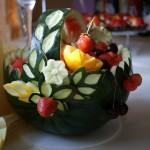 Dekoracyjny koszyk z arbuza - carving
