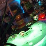 Fontanna z czekolady na podświetlanym podeście Sala Bankietowa Mario w Zegrzu