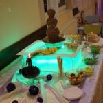 Fontanna z czekolady na podświetalanym podeście - Sala Bankietowa Tuliszków