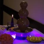 Fontanna z mleczną belgijską czekoladą na wesele