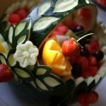 Koszyk z arbuza - carving