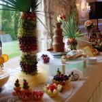 Owocowa wyspa, dekoracje z owoców, carving