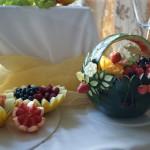 Owocowe dekoracje, carving