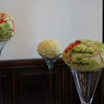 Carving ślubny, dekoracje z owoców i warzyw