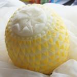 Dekoracje z żółtego melona