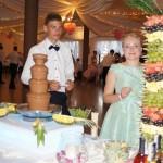Fontanna z czekoladą w Sali Weselnej Gościniec w Żdżarach