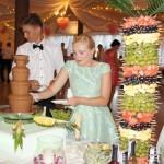 Palma owocowa, fontanna z czekolady, carving, atrakcje weselne