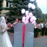 Balony z helem na weselu w Koszelówce