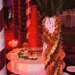 Fontanna czekoladowa i palma owocowa na bankiecie po konferencji w Hotelu Hilton w Warszawie