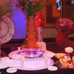 Fontanna czekoladowa na bankiecie po konferencji Hotel Hilton - Warszawa