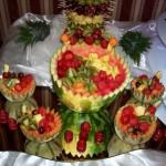 Owocowy bufecik na weseleu w Mikorzynie - Leśna Przystań
