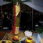 Palma owocowa i dekoracje owocowe na weselu OSP Skarszew