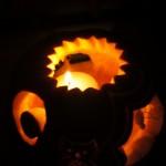 Carving dekoracja w dyni na halloween.
