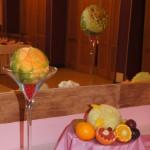 Carving w melonie Cantaloupe - dekoracja bufetu owocowego
