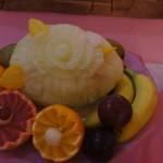 Carving w melonie - owocowy bufet