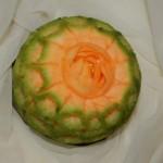 Dekoracja w melonie Cantaloupe - carving