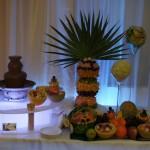 Fontanna czekoladowa i bufet owocowy - carving
