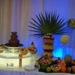 Fontanna czekoladowa, palma owocowa, dekoracja owocowe