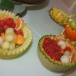 koszyczki owocowe, dekoracja bufetu owocowego