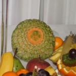 Dekoracja z melona Cantaloupe - carving w owocach