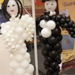Młoda Para z balonów