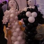 Młoda Para z balonów - dekoracje balonowe