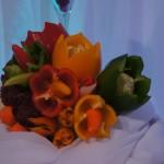Warzywny bukiet - carving