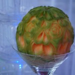carving - melon cantaloupe