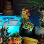 Bufecik owocowy i fontanna czekoladowa na Komunię