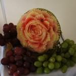 Carving - róża w arbuzie