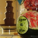 Dekoracje owocowe na ślub - carving