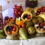 Dekoracje owocowe - owocowy stół