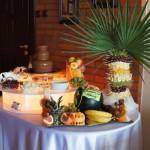 Fontanna czekoladowa i palma owocowa na Komunię