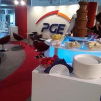 Fontanna czekoladowa na MTP Expopower dla Polskiej Grupy Energetycznej PGE