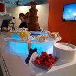 Fontanna czekoladowa na stoisku PGE - Expopower 2015 MTP