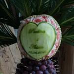 Carving w arbuzie - Zamek Topacz Ślęza